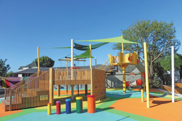 Kids Play Area with Synthetic Grass
